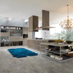 Cucina con mobili modulari progettata da Ferruccio Laviani per Rastelli Cucine