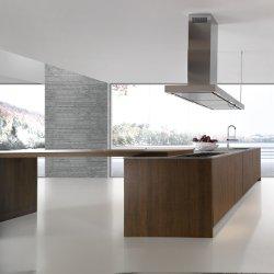 Cucina in legno castagno e bianca Rastelli Cucine