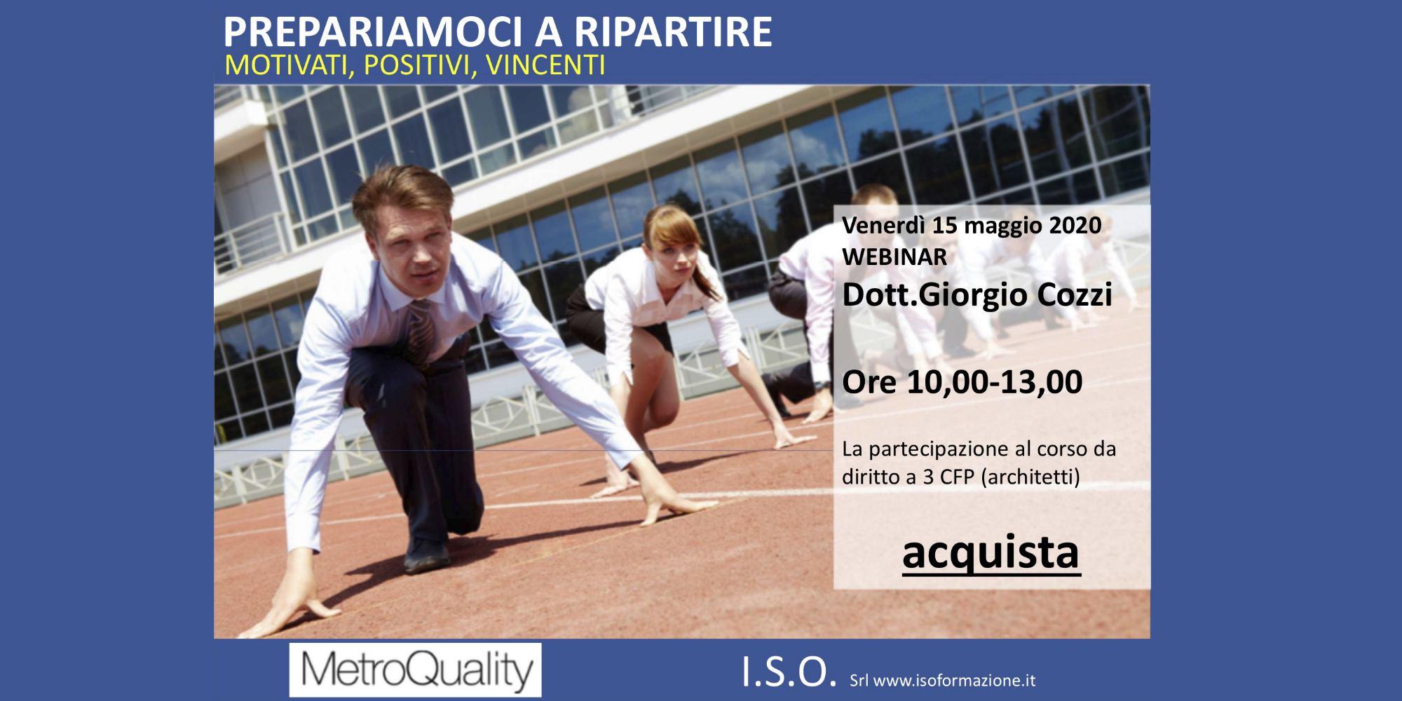 MetroQuality Locandina Webinar 15 Maggio 2020