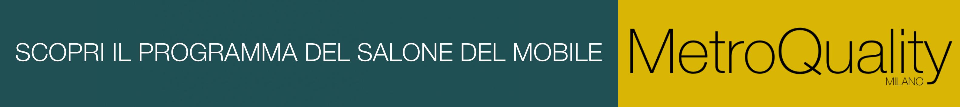 Scopri il programma del Salone del Mobile di Milano